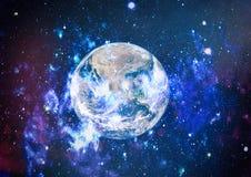 Erde, Galaxie und Sonne Elemente dieses Bildes geliefert von der NASA Stockfoto