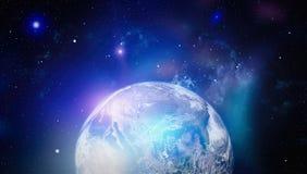 Erde, Galaxie und Sonne Elemente dieses Bildes geliefert von der NASA Lizenzfreie Stockfotografie