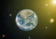 Erde, Galaxie und Sonne Elemente dieses Bildes geliefert von der NASA Lizenzfreie Stockbilder