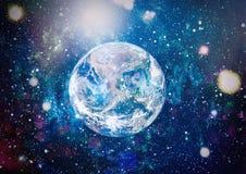 Erde, Galaxie und Sonne Elemente dieses Bildes geliefert von der NASA Stockfotos