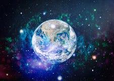 Erde, Galaxie und Sonne Elemente dieses Bildes geliefert von der NASA Stockbilder