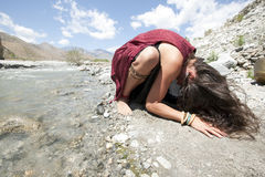 Erde-Gebet Stockfoto