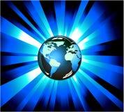 Erde-helle Explosionen Lizenzfreies Stockbild