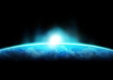 Erde-Horizont 1 Lizenzfreies Stockfoto