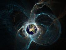 Erde im Epizentrum Stockbilder