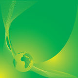 Erde im grünen Hintergrund Lizenzfreie Stockbilder