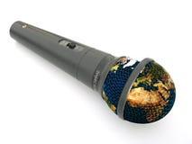 Erde im Mikrofon Lizenzfreies Stockfoto