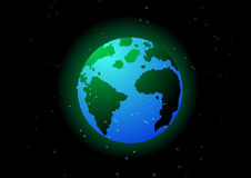 Erde im Platz lizenzfreies stockfoto