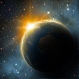 Erde im Raum stock abbildung