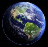 Erde im Schatten. Wiedergabe 3d stock abbildung
