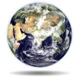 ERDE - Indien-und China-Ansicht lizenzfreie stockbilder