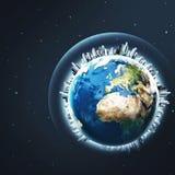 Erde ist unser Haus Stockfotos