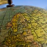 Erde-Kugel zentrierte auf Schweden Lizenzfreies Stockbild