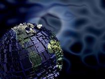 Erde mit Gebäuden Stockfoto