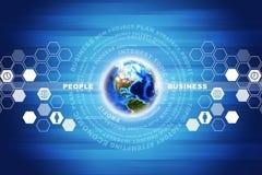 Erde mit Geschäftswörtern Stockbilder