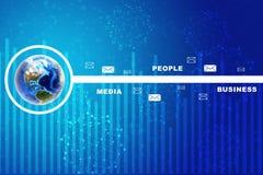 Erde mit Geschäftswörtern Lizenzfreies Stockfoto