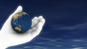 Erde mit Himmel (HD-Schleife) halten stock abbildung
