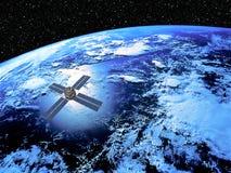 Erde mit Satelliten Lizenzfreie Stockfotografie