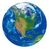 Erde mit schönen Elementen auf der Oberfläche Stockbilder