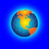 Erde mit Schlafengesicht vektor abbildung