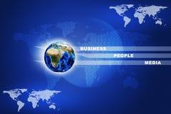 Erde mit Wörtern Stockfoto