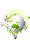 Erde mit wachsenden Blättern Lizenzfreies Stockfoto
