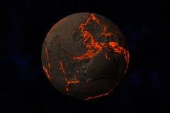 Erde ohne Wasser und Anlagen lizenzfreie abbildung