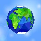 Erde, Planet, Kugel auf Hintergrund des blauen Himmels Lizenzfreie Stockfotos