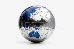 Erde-Puzzlespiel Stockfotografie