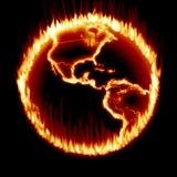 Erde-Ring des Feuers Stockbild