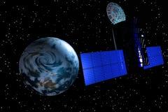 Erde-Satelitte Lizenzfreies Stockfoto