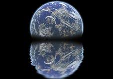 Erde steigende 2 vektor abbildung