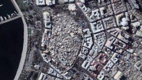 Erde summt herein lautes Summen aus Baku Azerbaijan laut stock footage
