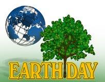 Erde-Tagesgraphik Stockfoto