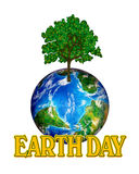 Erde-Tagesgraphik stock abbildung
