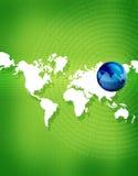 Erde u. Kontinente Stockfoto