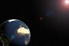 Erde u. Sonne Stockfotografie