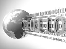 Erde und binärer Code Lizenzfreies Stockfoto