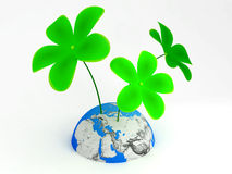 Erde und Blumen Lizenzfreies Stockfoto