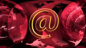 Erde und E-Mail lizenzfreie abbildung