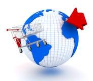 Erde und Einkaufswagen Lizenzfreie Stockfotografie
