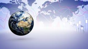 Erde und Geschäfts-Technologie-Stangen-Hintergrund Lizenzfreie Stockfotografie