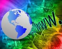 Erde und HTTP Lizenzfreie Stockbilder