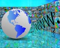Erde und HTTP Stockfotos