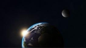Erde und Mond Stockbild
