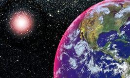 Erde und Mond stock abbildung