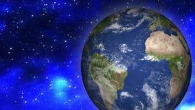 Erde und Mond vom Raum stock abbildung