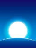 Erde- und Mondhintergrund lizenzfreie stockbilder