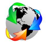 Erde und Pfeil 16.04.13 Stockfotos