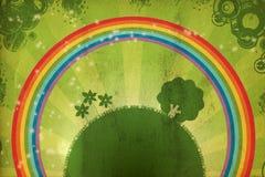 Erde und Regenbogen. grunge Lizenzfreie Stockfotografie